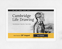 Cambridge Life Drawing – responsive website