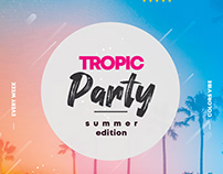 Tropic Party Free Summer PSD Flyer Template