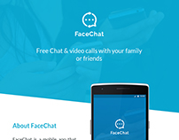 #FreePSD :FaceChat Material Design Concept