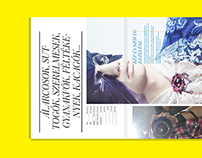 LACK Magazine Branding