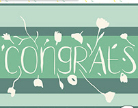 Congrats greeting design