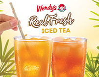 Wendy's Philippines: Real Fresh Iced Tea