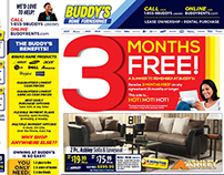 Buddy's Home Furnishings 3 Months FREE! Campaign