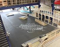 Calligraphy Quote // WSC, Kunstnacht XL Den Bosch