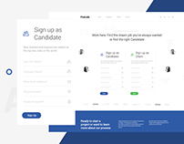 Findjob Landing Page - Be Client or find your candidate
