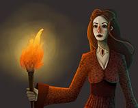 Fan-art de Game of Thrones: Melisandre