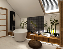 natural interior ~ bathroom