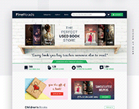 Finereads web page design