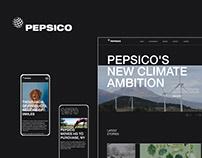 PepsiCo — redesign corporate website