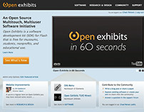 Open Exhibits site and community web app design 2010