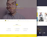 YellowMoon -  PSD Landing Page