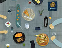 time in the kitchen - ilustrations