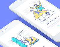 Sport Illustrations *Onboarding Screens