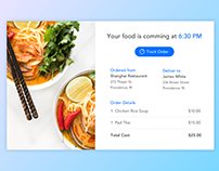 DailyUI | Email Receipt for Food Delivery