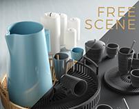 Free Models : Simple Cup Set
