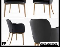 Koleksiyon Miranda Chair 3D Model Designed Faruk Malhan