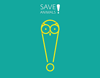 Save animals | poster series