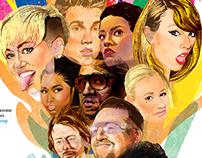 Portrait Illustrations for Washington Post