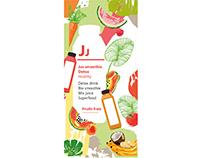 Création vitrophanie pour distributeur de smoothie,