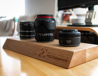 Camera Lens wooden stand 📸