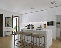 CG - Kitchen/Living room Design