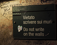 DO NOT WRITE ON THE WALL. Firenze by StreetArt.