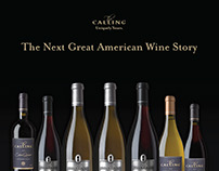 The Calling Wine, Wine Spectator Ad and Banner