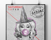 Event posters for Denoar bar