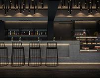 """Дизайн интерьера кафе """"Нивки"""" г. Киев. Зал на 1 этаже."""