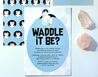 Penguin Gender Reveal Baby Shower