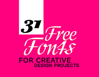 31 Free New Fonts Useful for Creative Design Projects