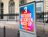 Outdoor Advertising Screen Mock-Ups 7