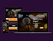 Website for Aspiring Singers