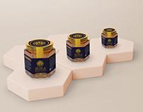 Label Design And Mockup For Sura Royal Honey