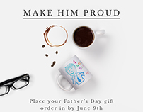 Father's Day emailer newsletter