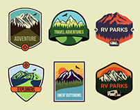 6 Travel Badges and Emblems