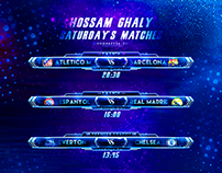 Saturday's matches