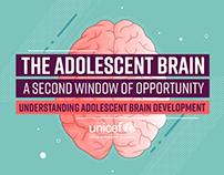 UNICEF Infographic Design - The Adolescent Brain