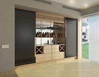 Mueble Bar y Escritorio - Como Interior Design