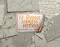 Doodle seamless patterns