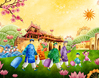 Vietravel - Spring Theme Illustration