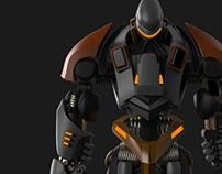 3D Robot Concept Art