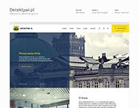 Detektywi pl - website for detective agency