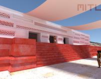 Mitla 3D - full facade