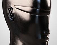 Anton Smit - Black Head with Glasses