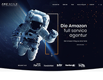 Redesign of 1 Page Website for Young Amazon Agency