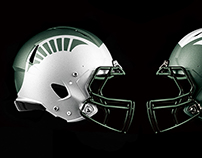 Michigan and Michigan State Helmet Concepts