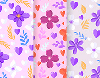Floral cards and patterns
