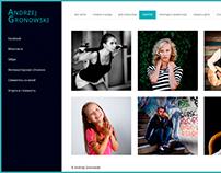 Сайт-портфолио Анджея Гроновского