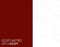 Egypt metro mobile app concept